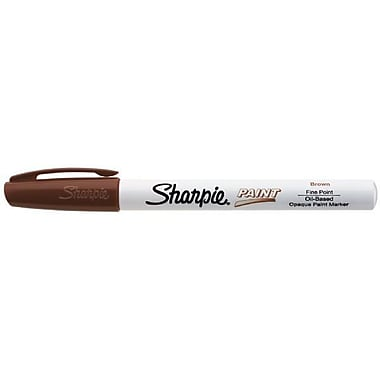 Sharpie Fine Point Paint Marker; Brown