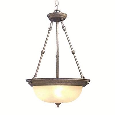 Woodbridge Basic 3-Light Pendant; Greystone