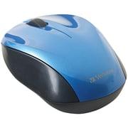Verbatim® - Souris optique sans fil nano pour ordinateur portatif, bleu
