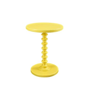 Powell Spindle Wood/Veneer Pedestal Table, Yellow, Each (256-269)
