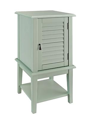 Powell Shutter Door Wood/Veneer Accent Table, Green, Each (268-351)
