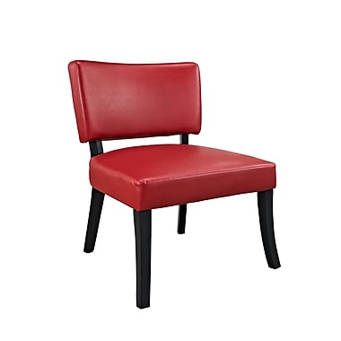 Powell Furniture Leather Side Chair, Red (383-725)