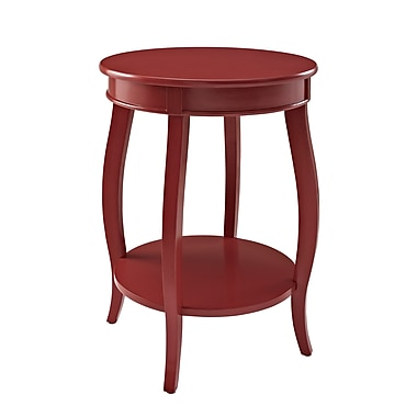 Powell Wood/Veneer Accent Table, Red, Each (471-350)