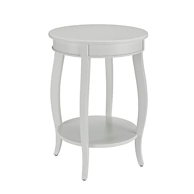 Powell Wood/Veneer Accent Table, White, Each (929-351)