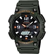 Casio® AQS810W-3AV Men's Analog/Digital Sports Chronograph Wrist Watch, Green