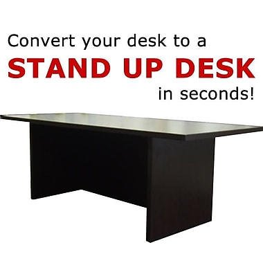 Home Concept 12'' H x 36'' W Standing Desk Conversion Unit; Dark Red Cocoa