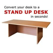 Home Concept 12'' H x 36'' W Standing Desk Conversion Unit; Golden Beach