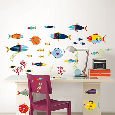 WallPops! Wall Art Kit Fish Tales Wall Decal