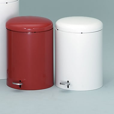 Witt 2-Piece 4 Gallon Step On Trash Can Set; Red