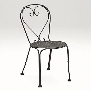 Woodard Parisienne Patio Dining Chair; Hammered White