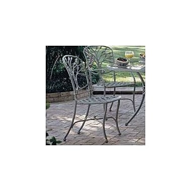 Woodard Heritage Patio Dining Chair; Hammered White