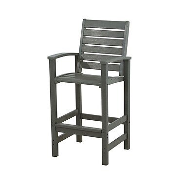 POLYWOOD Signature 30'' Bar Stool; Slate Grey