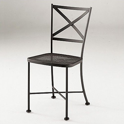 Woodard Cafe Classics Genoa Patio Dining Chair; Hammered White