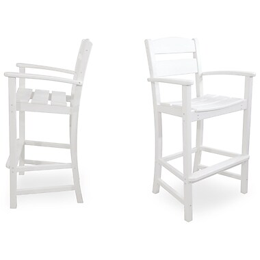 Ivy Terrace Classics 30.13'' Bar Stool (Set of 2); White