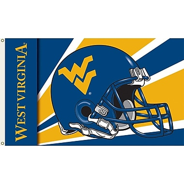 BSI Products NCAA Helmet Design Traditional Flag; West Virginia