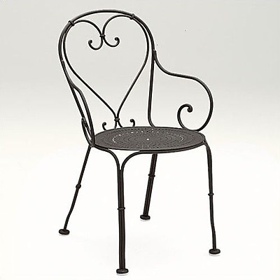 Woodard Parisienne Patio Dining Chair; Hammered Pewter
