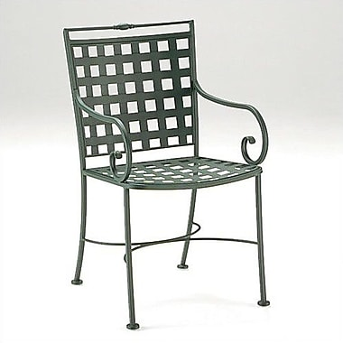 Woodard Sheffield Patio Dining Chair; Hammered Pewter
