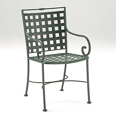 Woodard Sheffield Patio Dining Chair; Textured Black