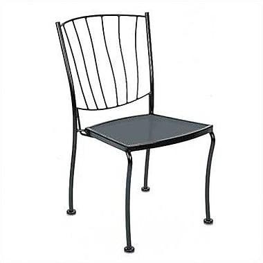 Woodard Aurora Stacking Patio Dining Chair; Textured Black
