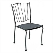 Woodard Aurora Stacking Dining Side Chair; Graphite