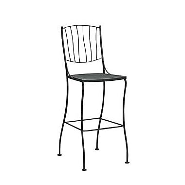 Woodard Aurora 30.5'' Bar Stool; Textured Cypress