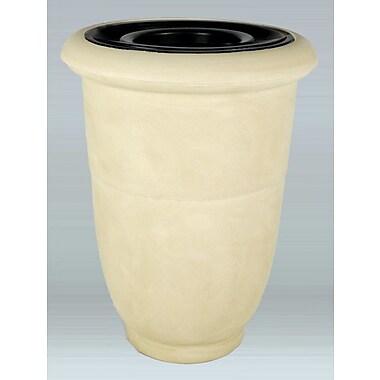 Allied Molded Products Venus 15 Gallon Trash Bin; White Honey