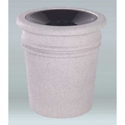 Allied Molded Products Sarasota 20 Gallon Trash Can; Plum