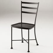 Woodard Cafe Classics Patio Dining Chair; Graphite