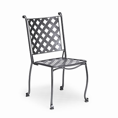 Woodard Maddox Bistro Stacking Patio Dining Chair; Chestnut Brown