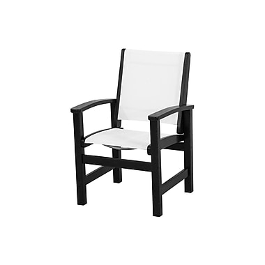 POLYWOOD Coastal Patio Dining Chair; Black