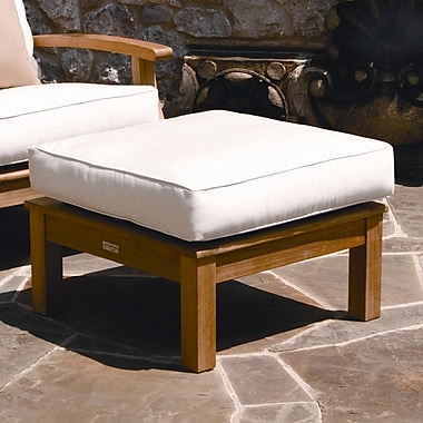 Three Birds Casual Monterey Ottoman w/ Cushion; Coal