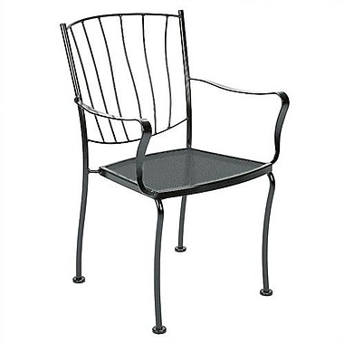 Woodard Aurora Stacking Patio Dining Chair; Chestnut Brown