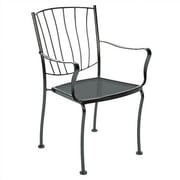 Woodard Aurora Stacking Patio Dining Chair; Graphite