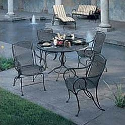 Woodard Modesto Patio Dining Chair; Hammered Pewter