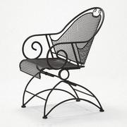 Woodard Cantebury Coil Spring Dining Arm Chair; Textured Black