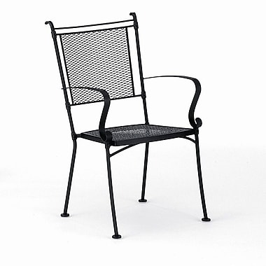 Woodard Bradford Stacking Patio Dining Chair; Textured Black