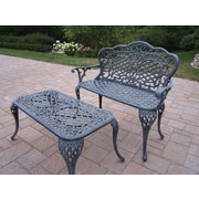 Oakland Living Mississippi 2 Piece Bench Seating Group Set; Verdi Grey