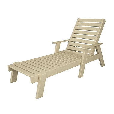 POLYWOOD Captain Chaise Lounge w/ Arms; Sand