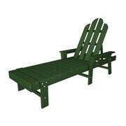 POLYWOOD  Long Island Chaise Lounge; Green