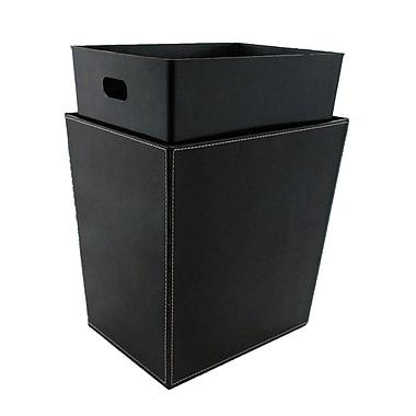 Kraftware Bath and Home 4 Gallon Waste Basket; Black