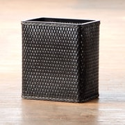 LaMont Carter Wicker Trash Can; Black
