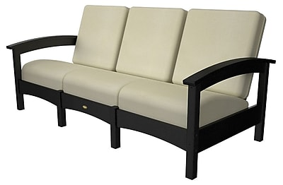 Trex Rockport Club Sofa; Charcoal Black / Bird's Eye