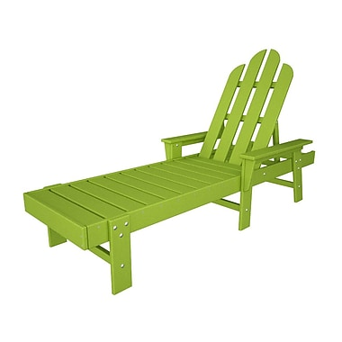 POLYWOOD Long Island Chaise Lounge; Lime