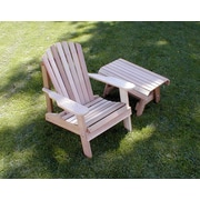 Creekvine Designs Cedar American Forest Adirondack Chair and Table Set; Cedar Stain/Sealer