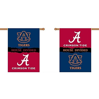 BSI Products NCAA House Divided 2-Sided Banner; Alabama v. Auburn