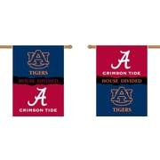 BSI Products NCAA House Divided 2-Sided Banner; Alabama v. Auburn