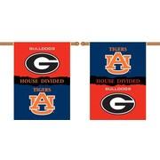 BSI Products NCAA House Divided 2-Sided Banner; Georgia v. Auburn