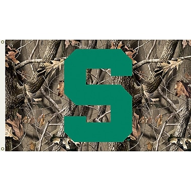 BSI Products NCAA Realtree Camo Traditional Flag; Michigan State