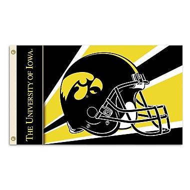 BSI Products NCAA Helmet Design Traditional Flag; Iowa