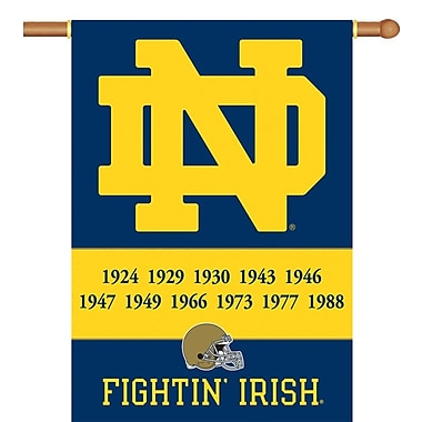 BSI Products NCAA 2-Sided Banner; Notre Dame - Champ Years